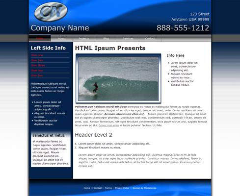 Blue Wave Web Template